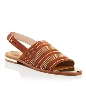 French Connection Happy Cognac Tan Sandals
